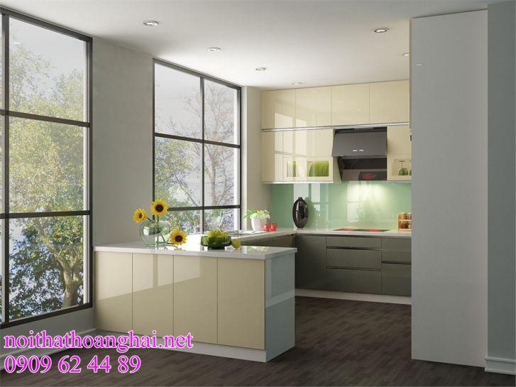 tủ bếp bằng acrylic