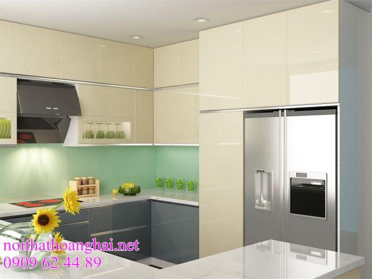 tủ bếp bằng acrylic đẹp