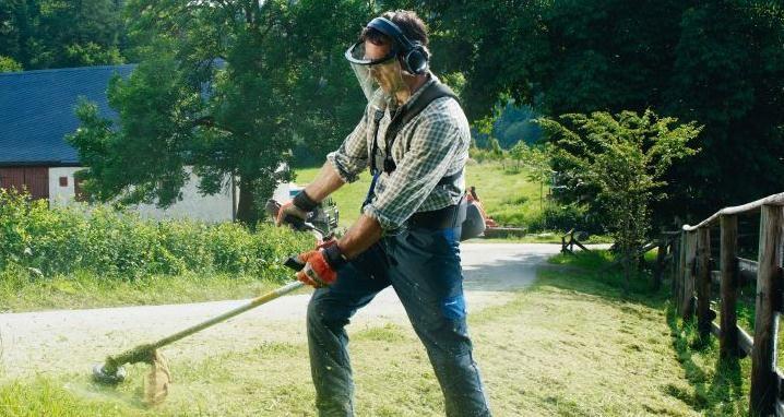 Máy cắt cỏ cầm tay làm vườn