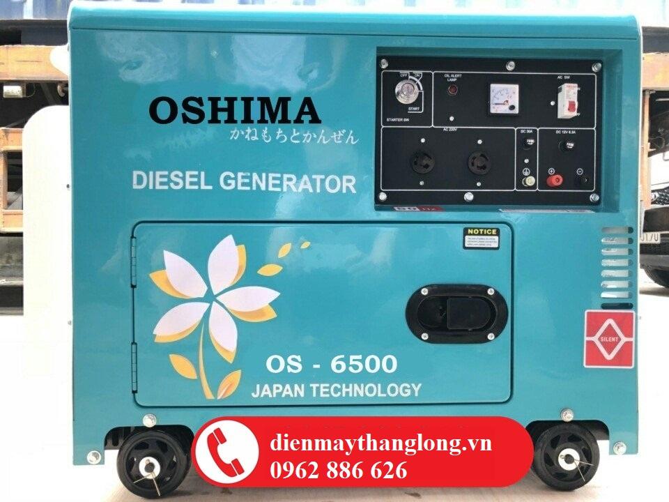 Máy phát điện Oshima Os 6500 chạy dầu