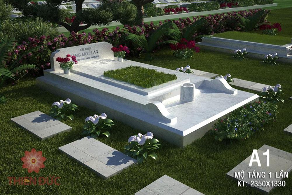 mộ táng một lần trông khuôn viên gia đình