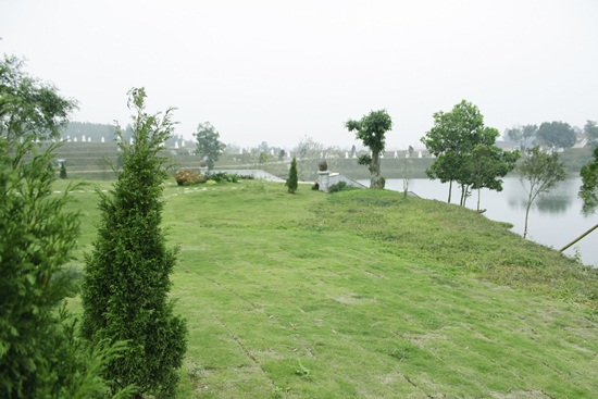 Một góc công viên nghĩa trang