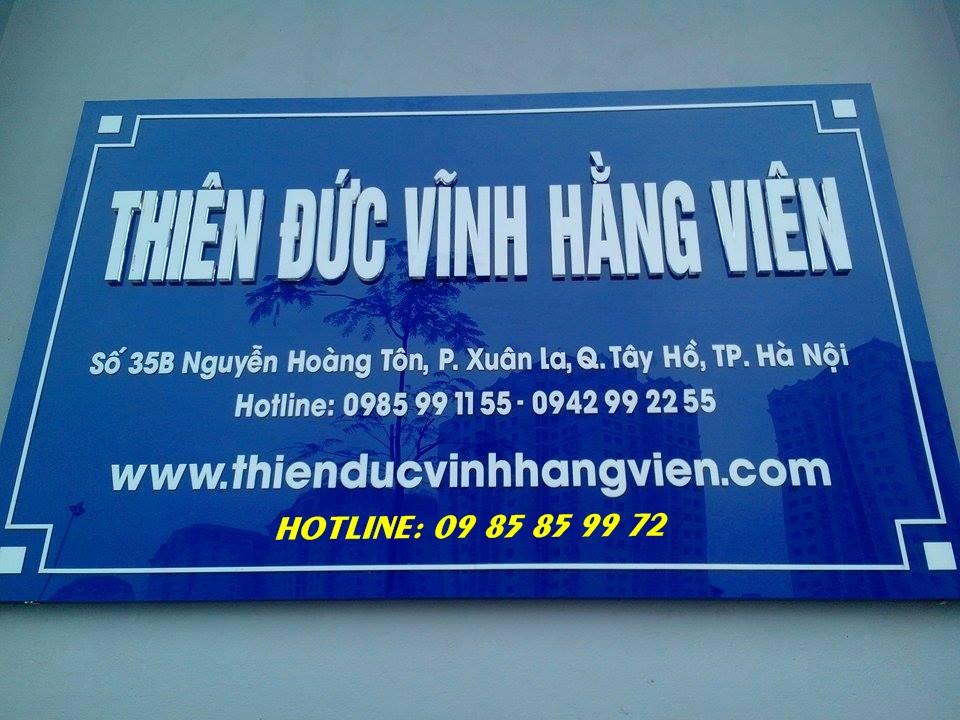 Địa chỉ văn phòng mới của THiên Đức vĩnh hằng viên