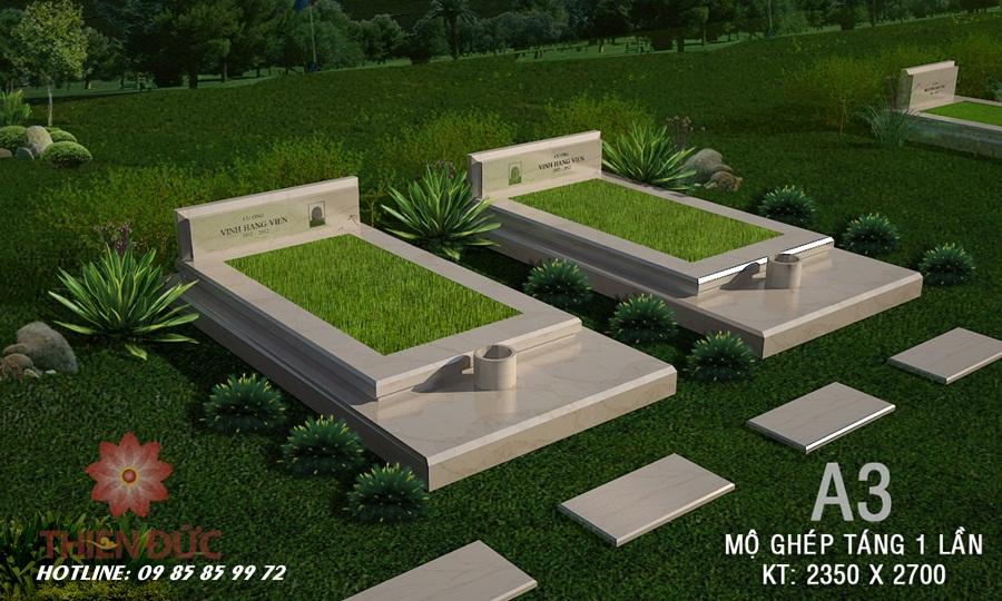 Mẫu mộ táng một lần - hiện đại