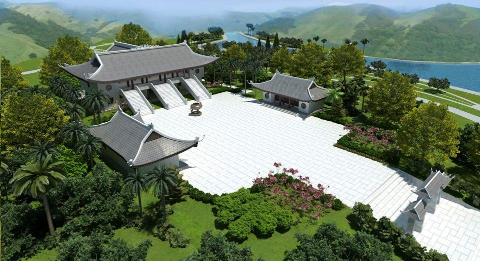 quang cảnh tổng thể chùa Thiên long - tại Thiên Đức vĩnh hằng viên