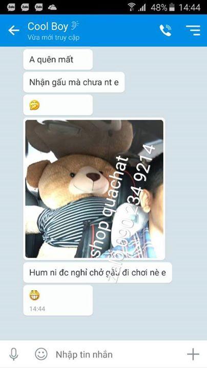 Gấu bông teddy lớn lông xù