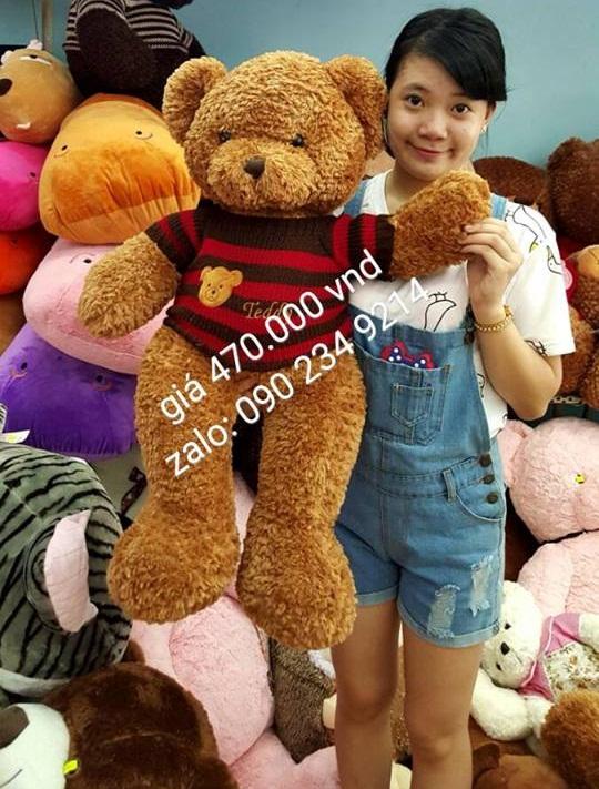 Gấu bông teddy xịn mắt có chữ teddy 02