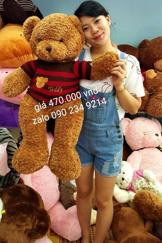 Gấu bông teddy xịn mắt có chữ teddy 03