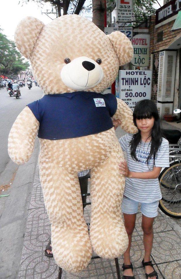 Gấu bông teddy 1m8 đẹp to giá rẻ nhất 01