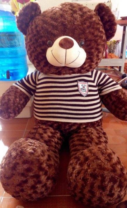 Gấu bông đẹp lông xoắn áo len 1m8 01