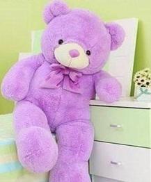 gấu bông màu tím 02
