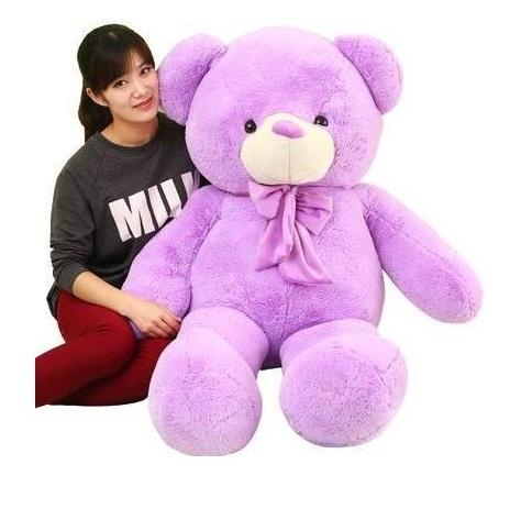 gấu bông màu tím 01