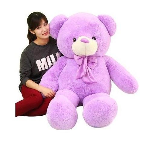 gấu bông màu tím 03