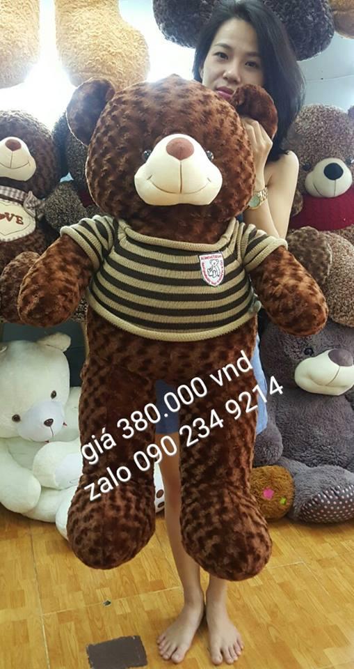 Gấu bông lớn áo len cực xinh 05