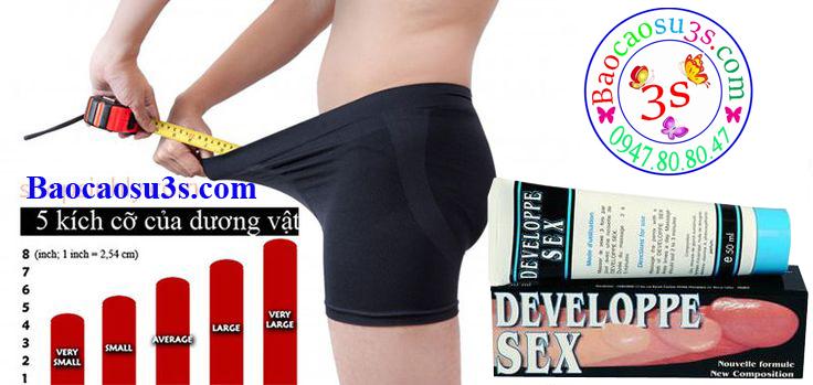 Gel Developpe Sex giúp cải thiện kích cỡ Dương vật rõ rệt sau thời gian ngắn