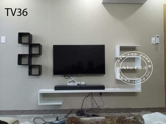 kệ tivi treo tường hiện đại