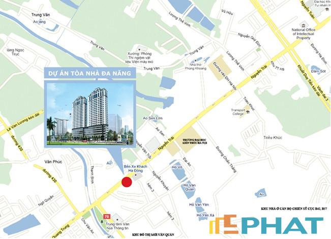 Vị trí chung cư số 7 Trần Phú, Hà Đông