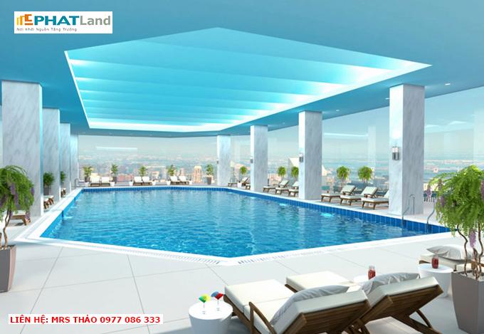 bể bơi trên không chung cư artemis