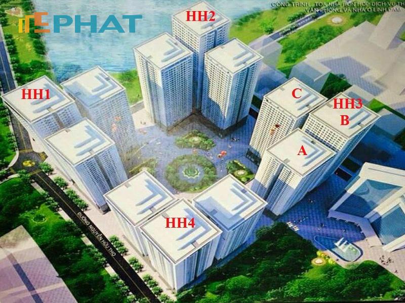 chung cư HH4 - HH3 - HH2 - HH1 Linh Đàm