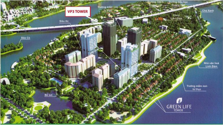 Tong quan chung cu vp3 Linh Dam