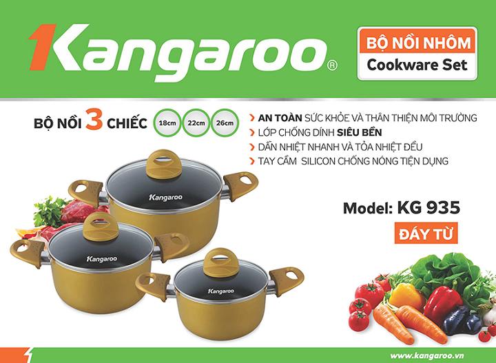 Bộ nồi nhôm Kangaroo KG935