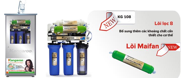 Máy lọc nước Kangaroo 8 lõi không vỏ tủ + đèn UV KG108KVUV