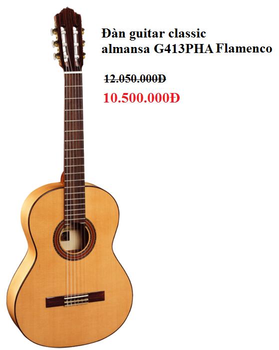 Đàn guitar classic Almansa Flamenco G413PHA