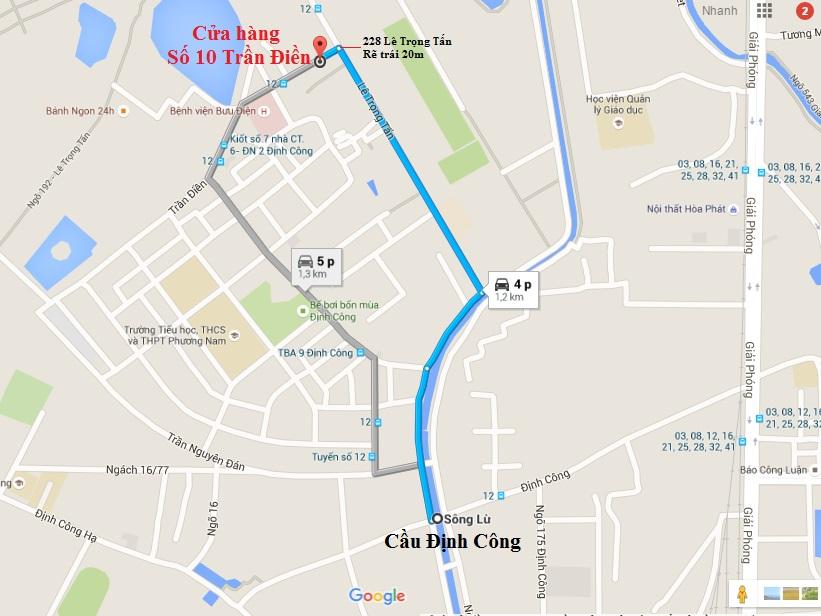 Bản đồ đến số 10 Trần Điền