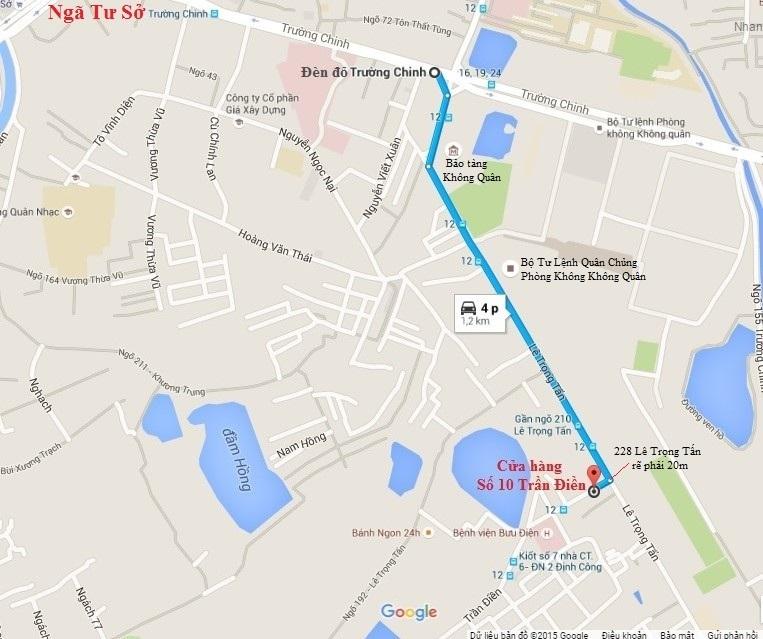 Bản đồ đến cửa hàng số 10 Trần Điền