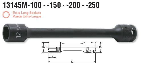 Đầu khẩu dài Koken 13145M, 13145M-100, 13145M-200