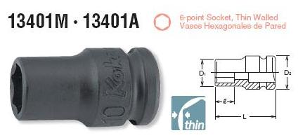 Đầu khẩu Koken, Koken impact socket, 13401M-10