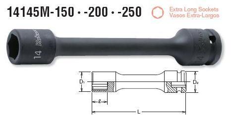 Đầu khẩu dài Koken, Koken 1/2, Koken 14145M, khẩu nối dài,