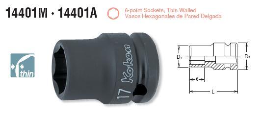 Dau khau Koken 1/2 inch, Koken 14401M, đầu khẩu cho lắp ráp