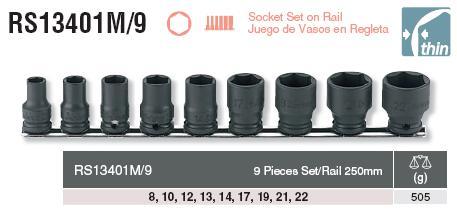 Bộ đầu khẩu vặn ốc, khẩu 3/8 inch, bộ khẩu Koken RS13401M/9