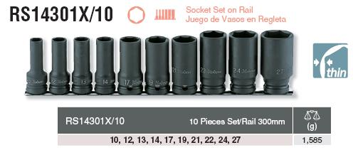 Bộ đầu khẩu Koken 1/2 inch, Koken RS14301X/10
