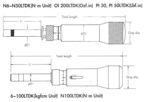 Thông số tô vít lực Kanon, Kanon CN30LTDK, tô vít lưc, dải lực 2-30cNm