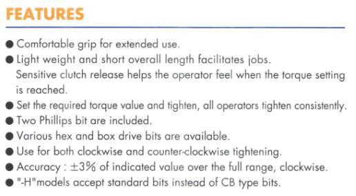 Sử dụng tô vít cân lực Kanon, Kanon CN120LTDK, tô vít lực loại đặt lực trước
