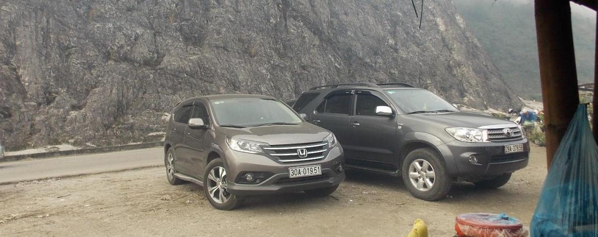 Xe CR-V đổ đèo Thung Khe, xe CR-V đi tuyến Mai Châu Hòa Bình, xe Honda CR-V
