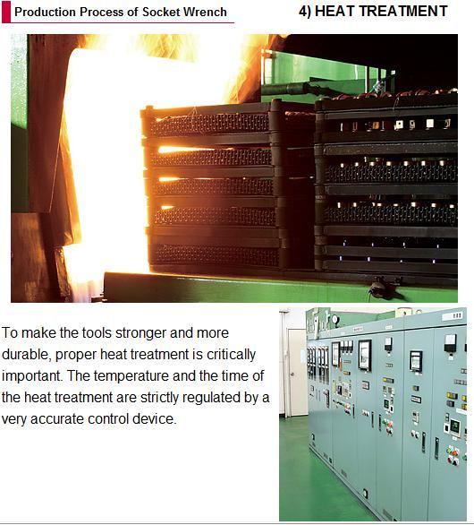 Công đoạn nhiệt luyện cho sản phẩm đầu khẩu Koken