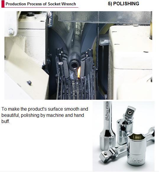 Công đoạn đánh bóng bề mặt sản phẩm đầu khẩu Koken