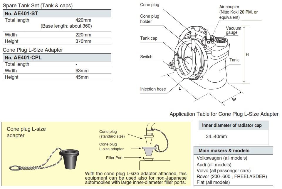 Bình đựng nước làm mát, KTC AE401-ST, AE401-CPL