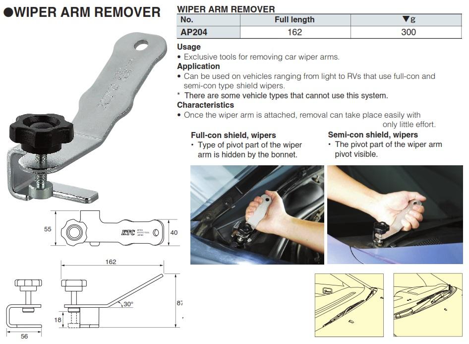 Dụng cụ tháo tay gạt mưa ô tô, dụng cụ tháo tay gạt kính chắn gió, KTC AP204