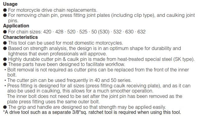 Cách sử dụng thiết bị cắt xích, dụng cụ đột xích tải MCCU14,
