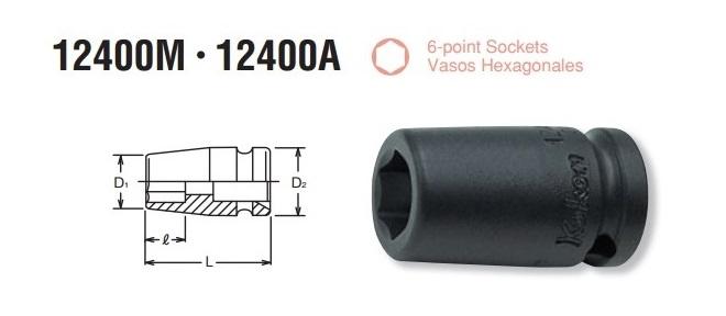 Đầu khẩu Koken 1/4 inch, Koken 12400M, khẩu Koken 1/4