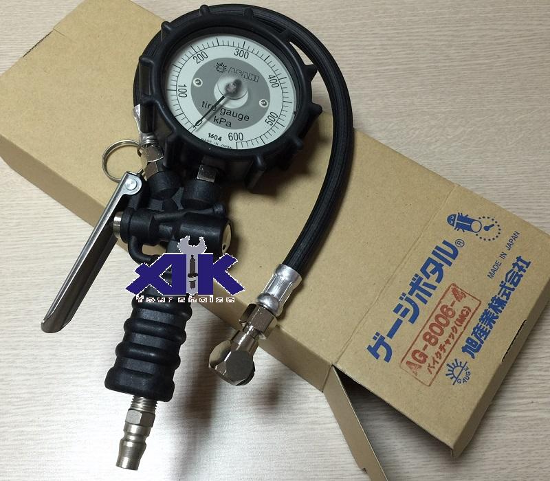 Đồng hồ bơm lốp Asahi, Asahi AG-8006-4, đồng hồ bơm và đo áp suất lốp, AG8006-4