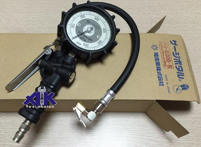 Bơm lốp Asahi Nhật, Asahi AG-8006-5, bơm lốp với áp lực đến 600KPa