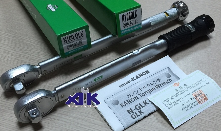 Cờ lê lực Kanon, Kanon N100GLK, N100QLK, cần xiết lực Kanon, cần xiết lực nhập khẩu từ Kanon Nhật