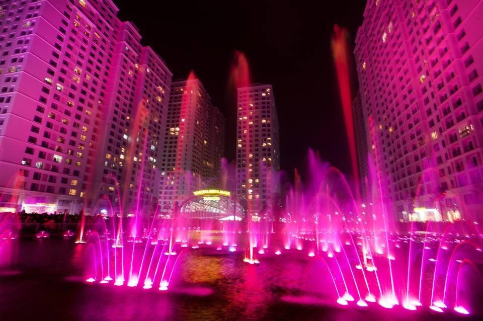 Lịch biểu diễn nhạc nước tại Vincom Mega Mall Times city