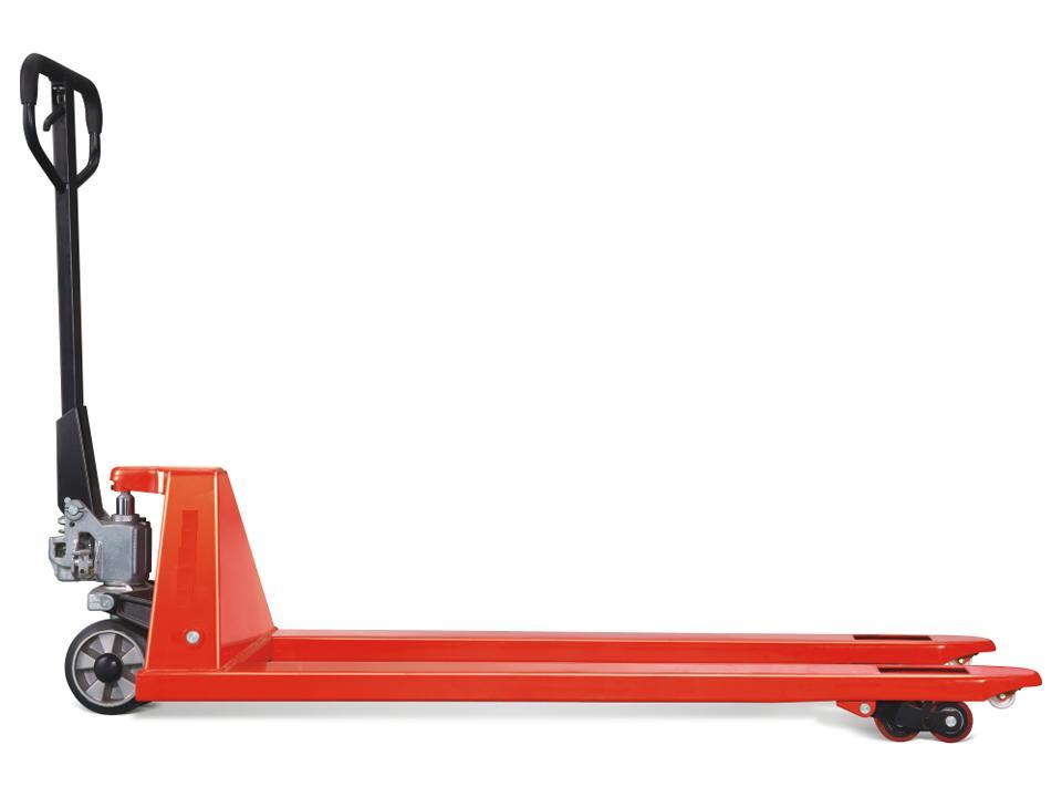 Xe nâng tay siêu thấp LPT10M chiều cao nâng thấp nhất đến 35mm đặc biệt thích hợp khi nâng pallet siêu thấp bằng giấy carton, bằng cao su, nâng module máy, tải trọng 1000kg
