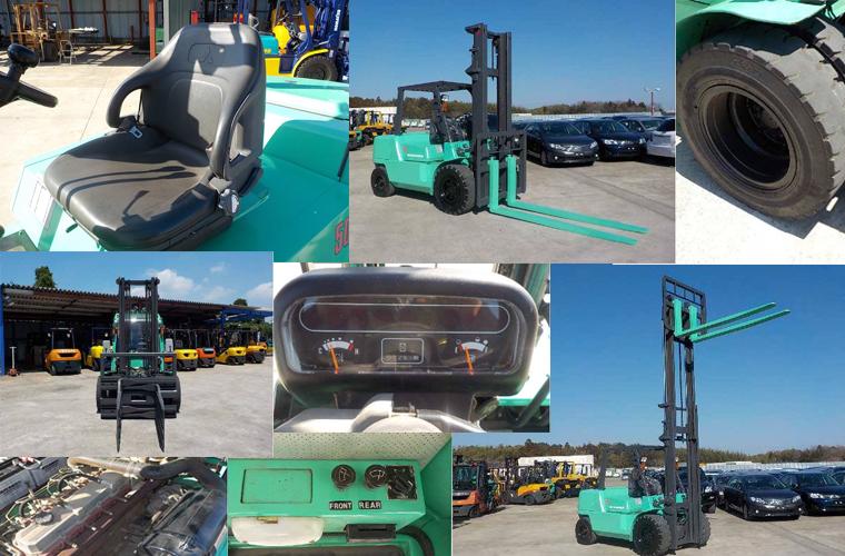 Xe nâng dầu cũ Mitshubishi FD50NT đời 2011, chiều dài càng 2,18 mét-nâng cao đến 4M. Máy móc còn nguyên zin và cứng cáp